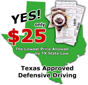 Texas Defensive Driving classes for the cheapest price!